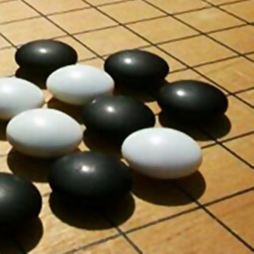 Go (igo) board with stones