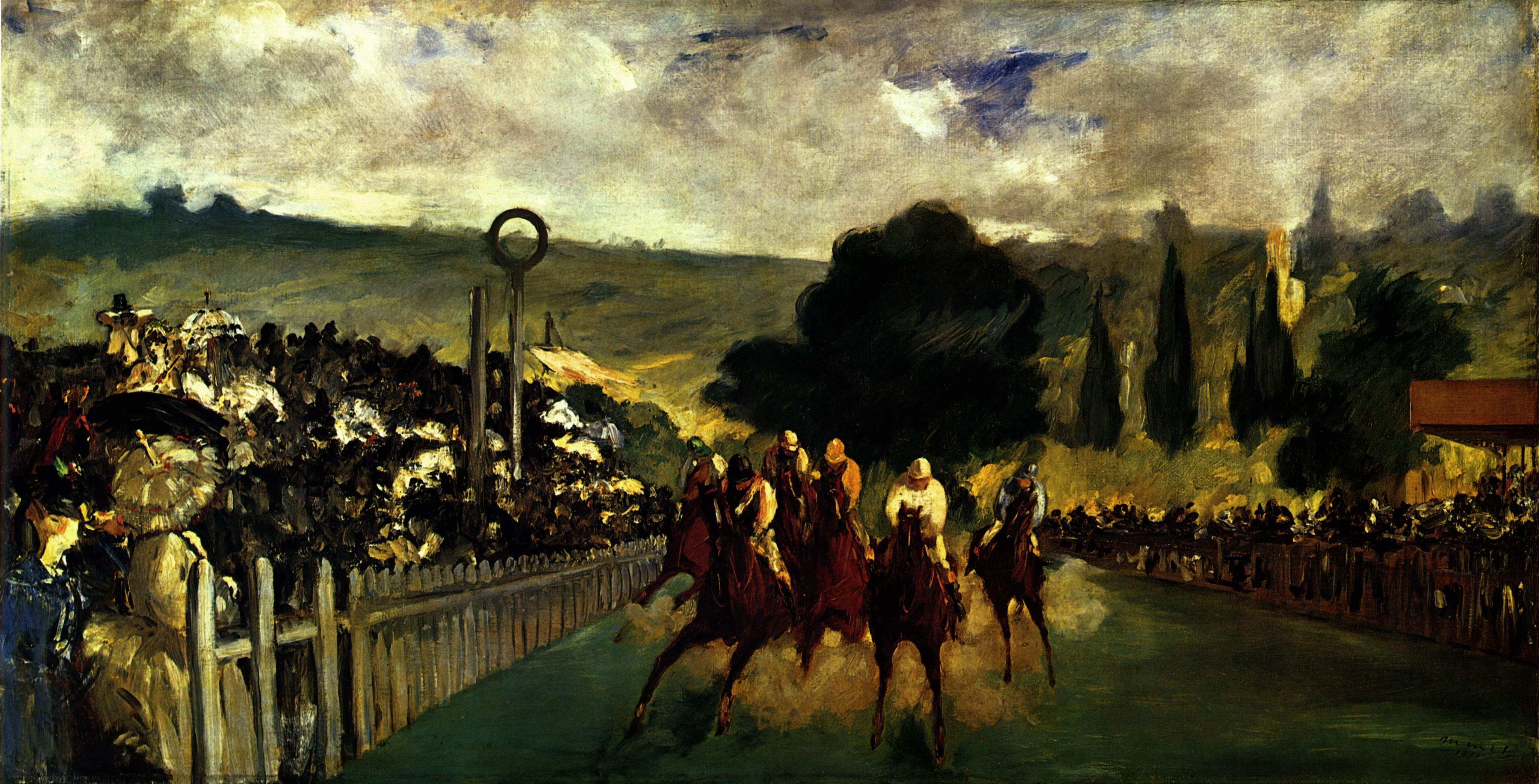 The Races at Longchamp, 1864.