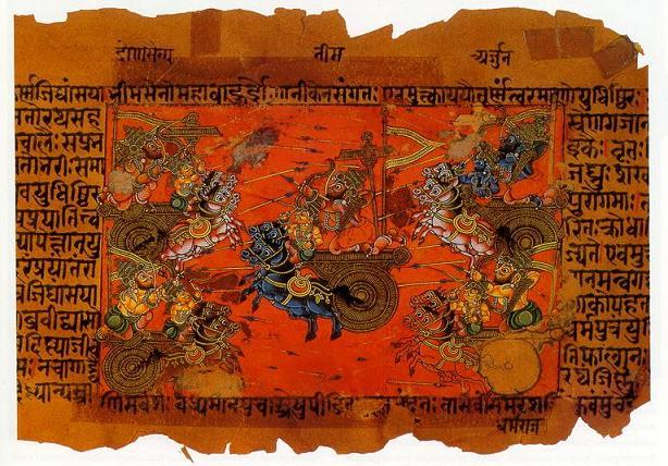 Ilustrasi Perang Kurukshetra
