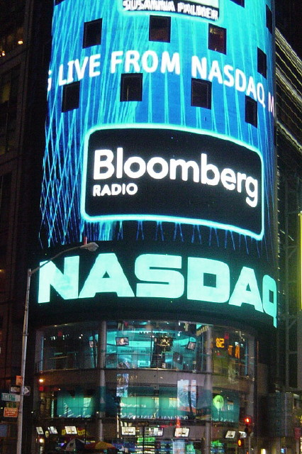 English: NASDAQ in Times Square, New York City...