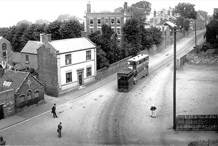 Steam tram in Sedgley
