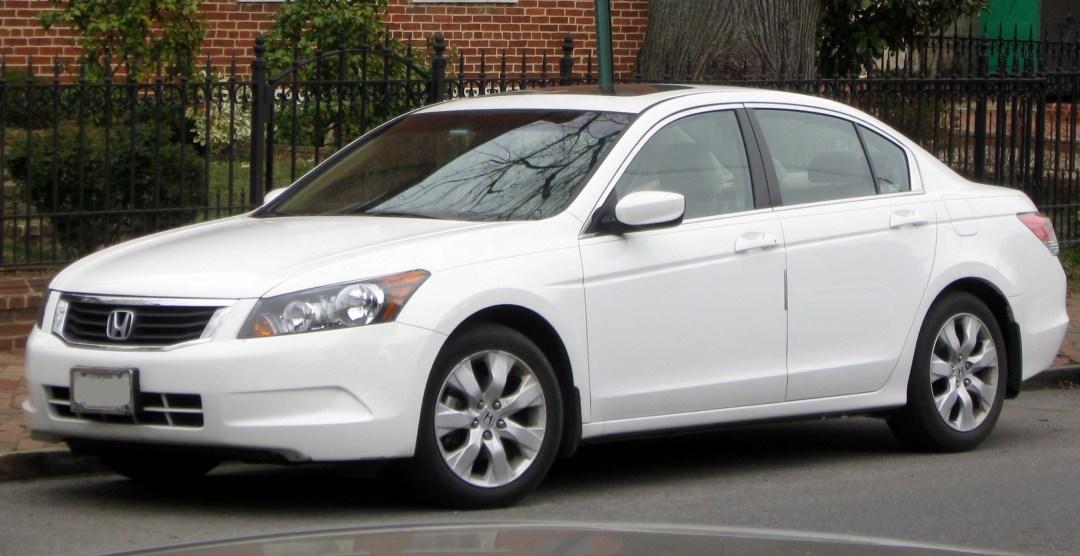 2008 White Honda Accord parked streetside