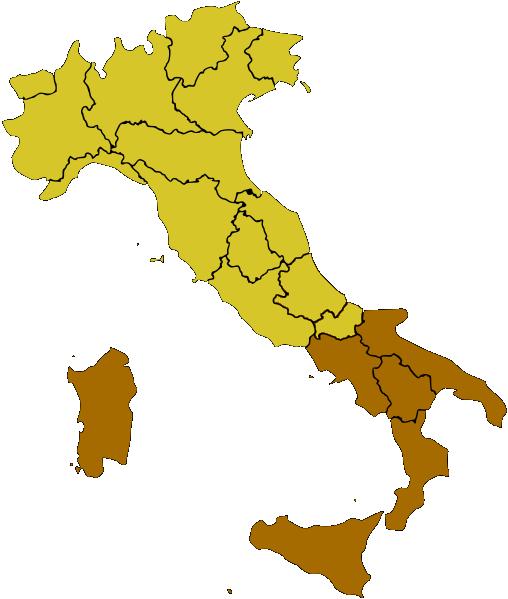 Mezzagiorno (Fuente: www.wikimedia.org)