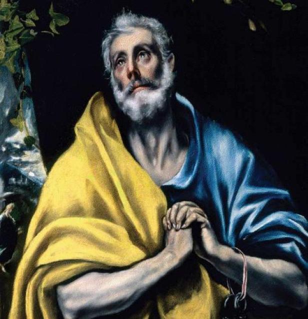 The Tears of Saint Peter by El Greco - Museo Soumaya