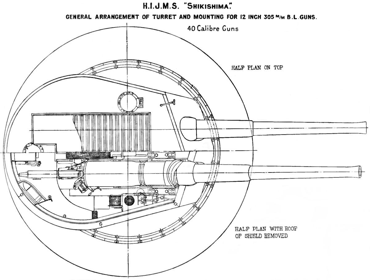 File Shikishima Class 12 Inch Gun Turret Plan