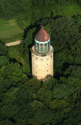 Water tower - Gödöllő from above