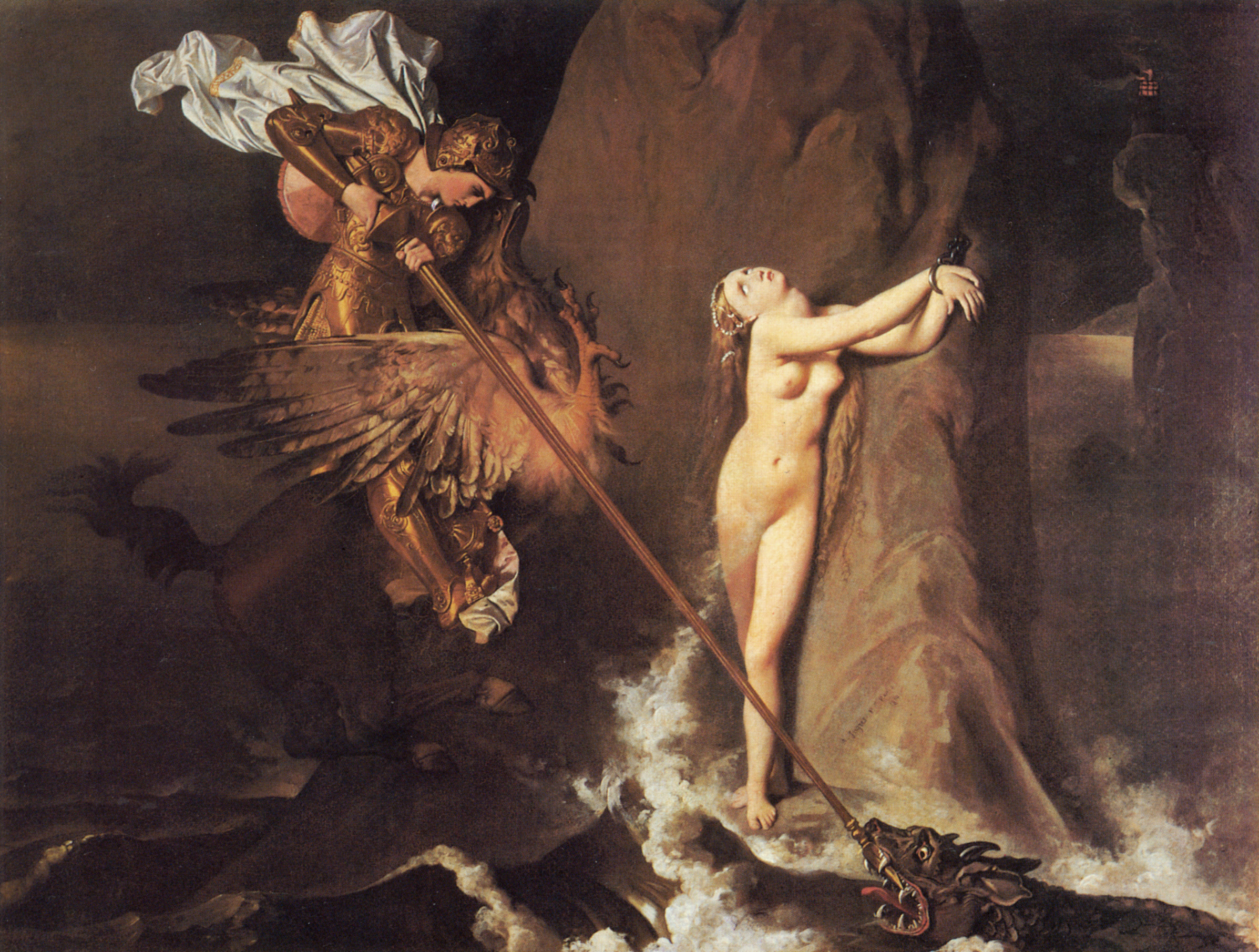 Ruggiero Rescuing Angelica (cf. Category:Perse...