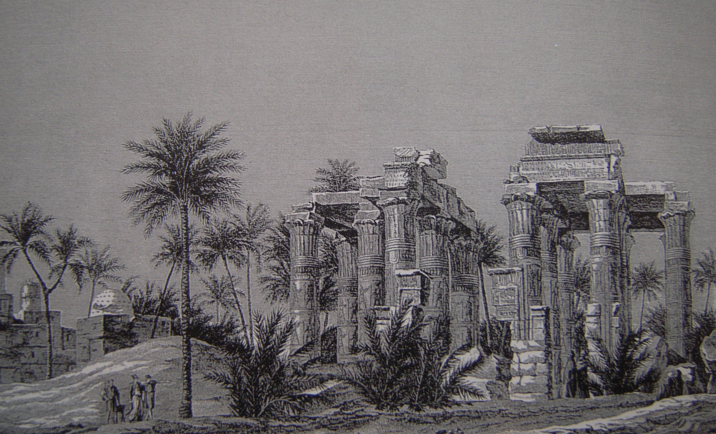 The view if Ptolemaic temple in Antaepolis (Qau el-Kebir) in Egypt