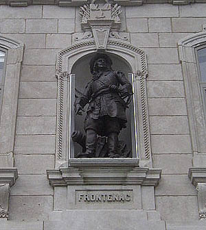English: Statue of Frontenac from the National...