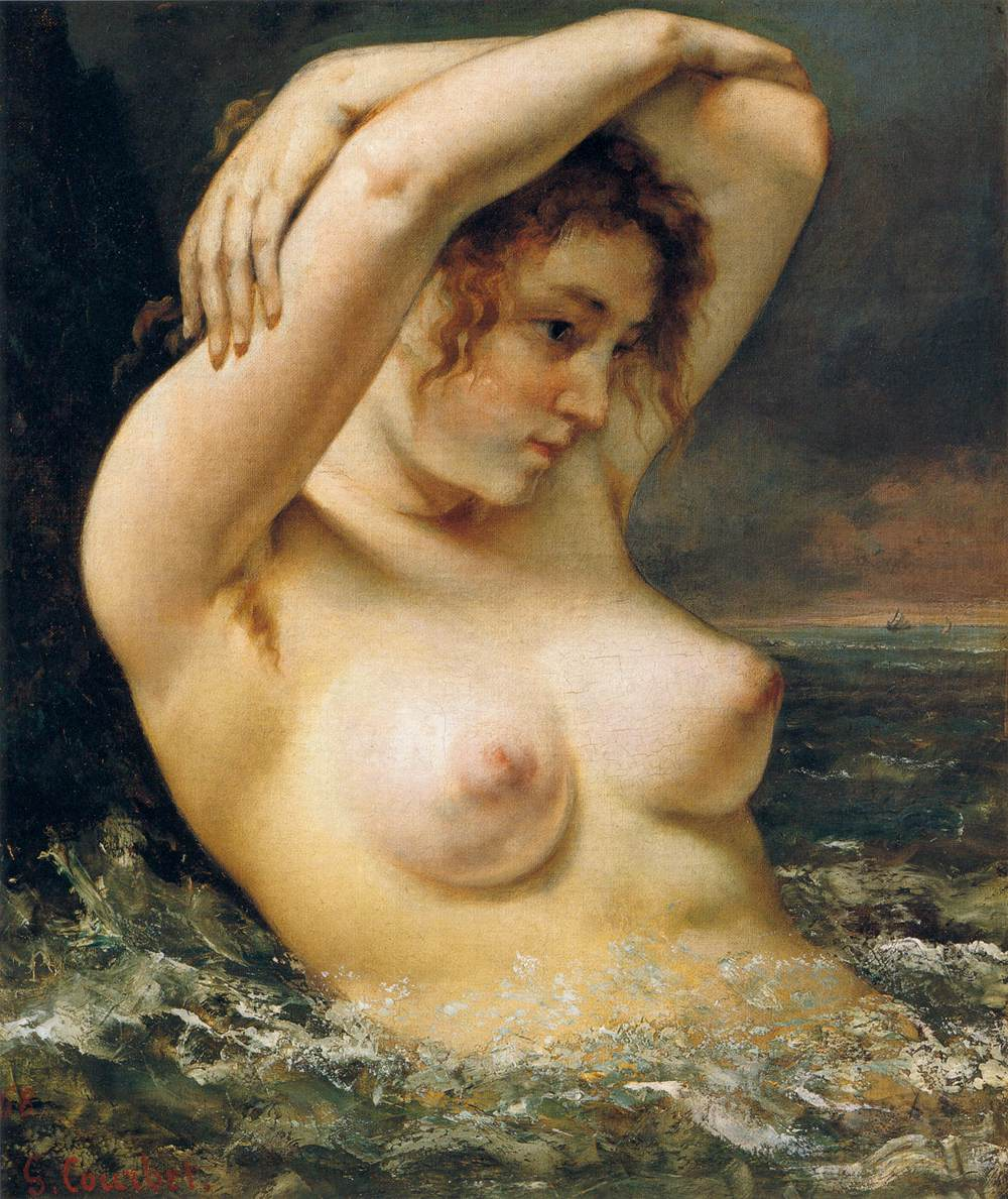 Gustave Courbet - The Woman in the Waves - WGA5507
