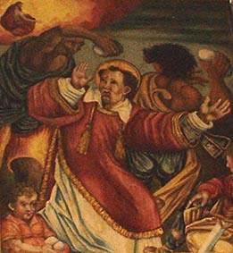 The lapidation of Saint Stephen.