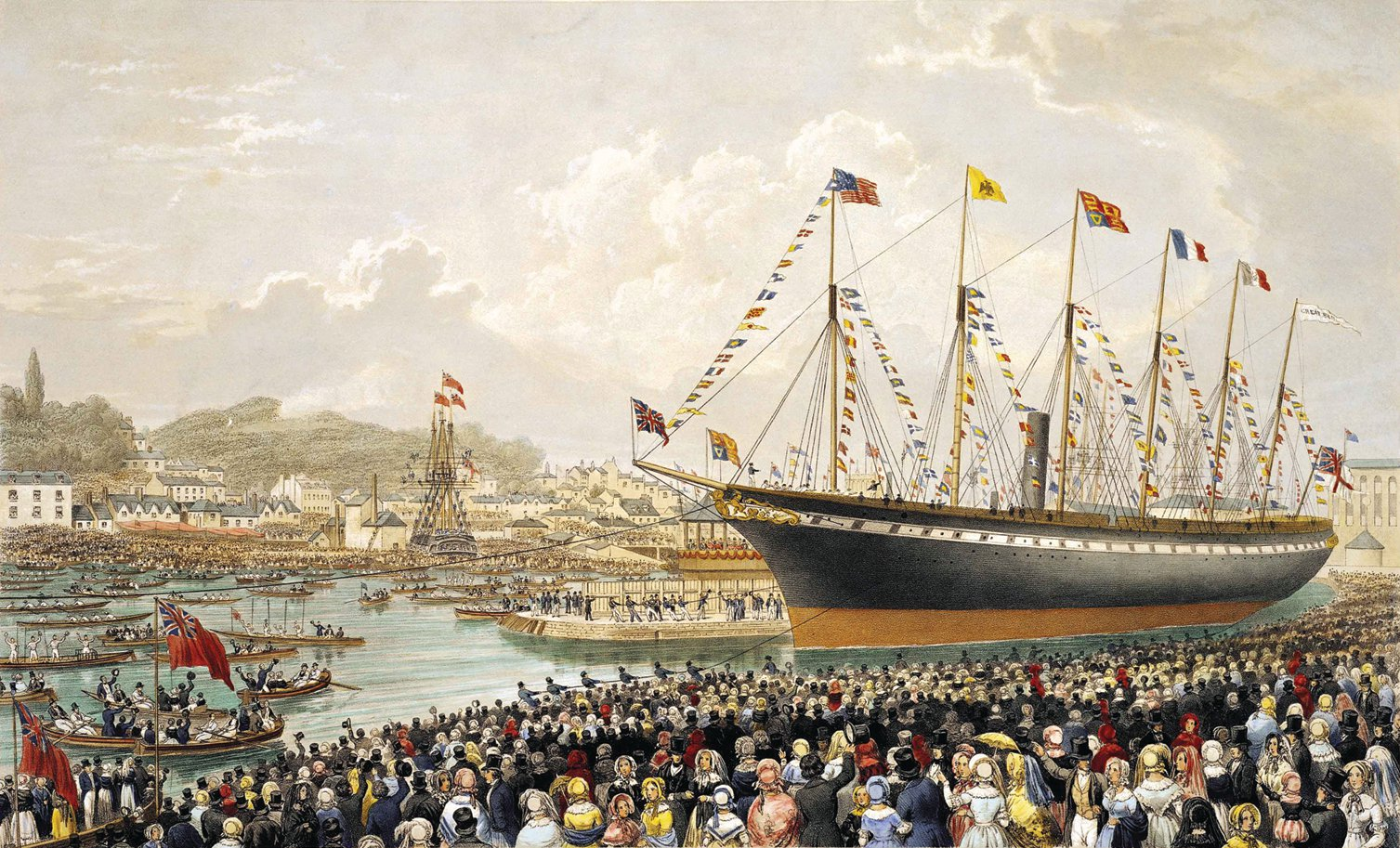 Launch of the SS Great Britain, the revolution...