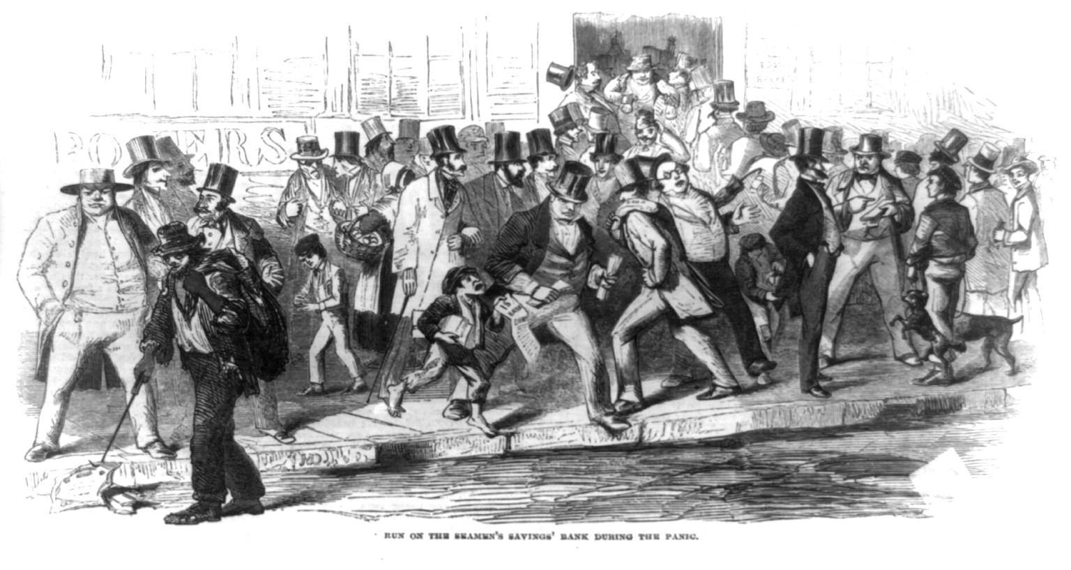 Run on the Seamen's Savings' Bank during the Panic of 1857