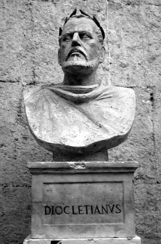English: Diocletian. In Diocletian's Palace, S...