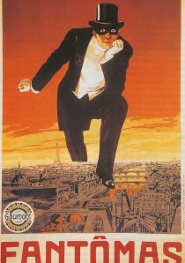 English: A poster for the first Fantomas film,...