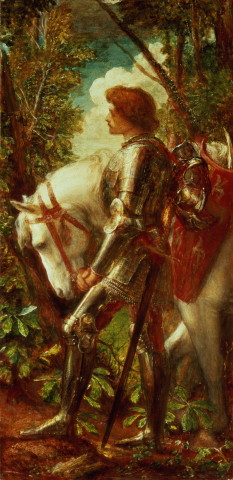 Sir Galahad, a medieval hero displaying qualit...