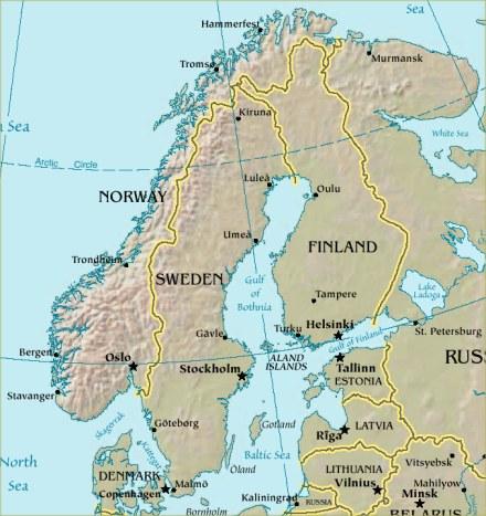 Imagen adquirida de Wikipedia.com (Mapa de Escandinavia)