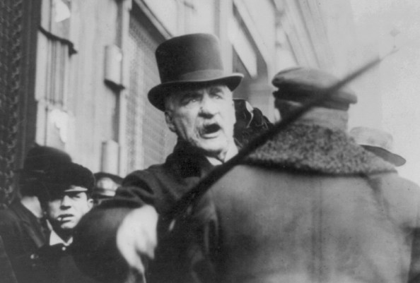 El coleccionista y millonario John Pierpont Morgan.