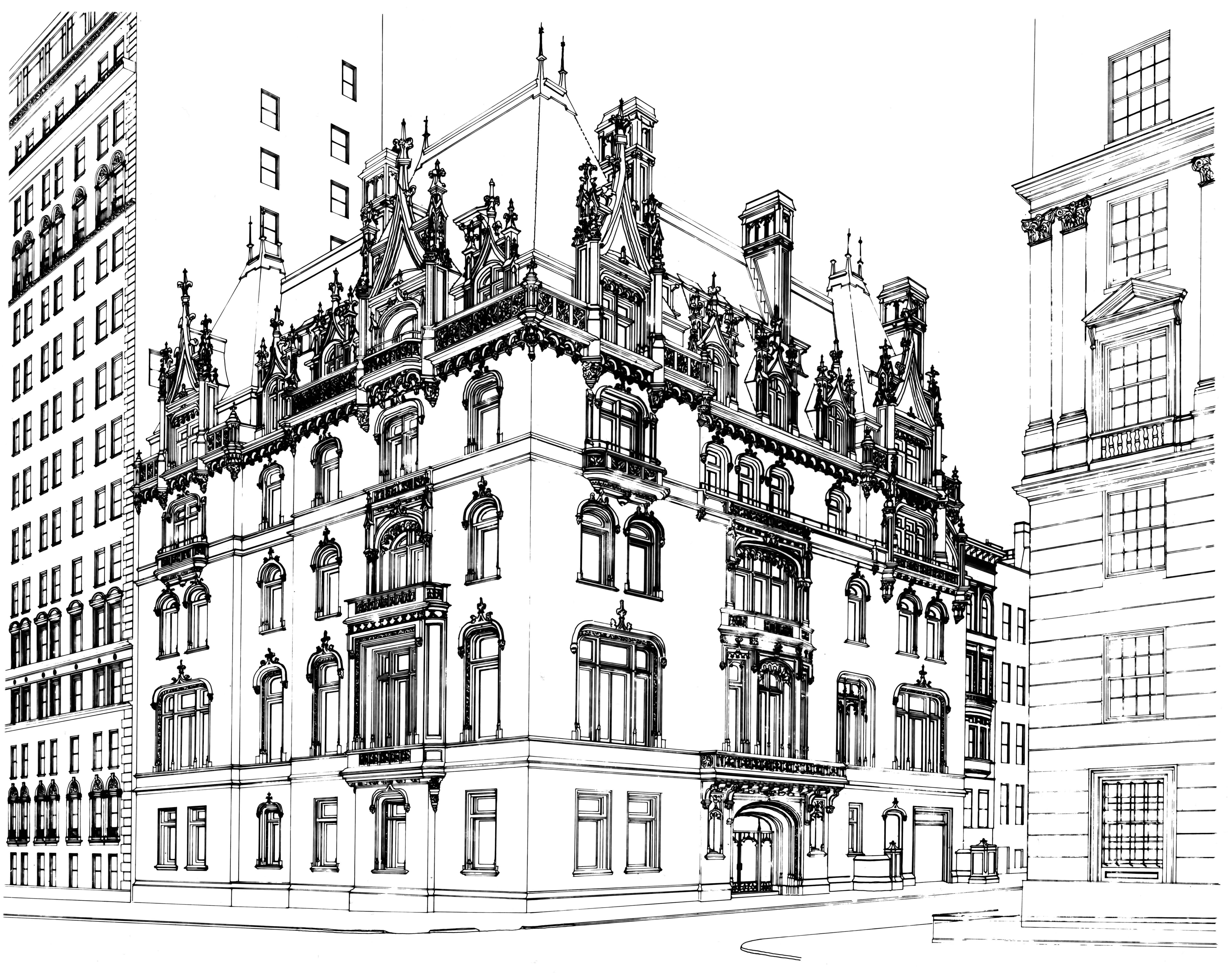 File Jewish Museum Building Line Drawing