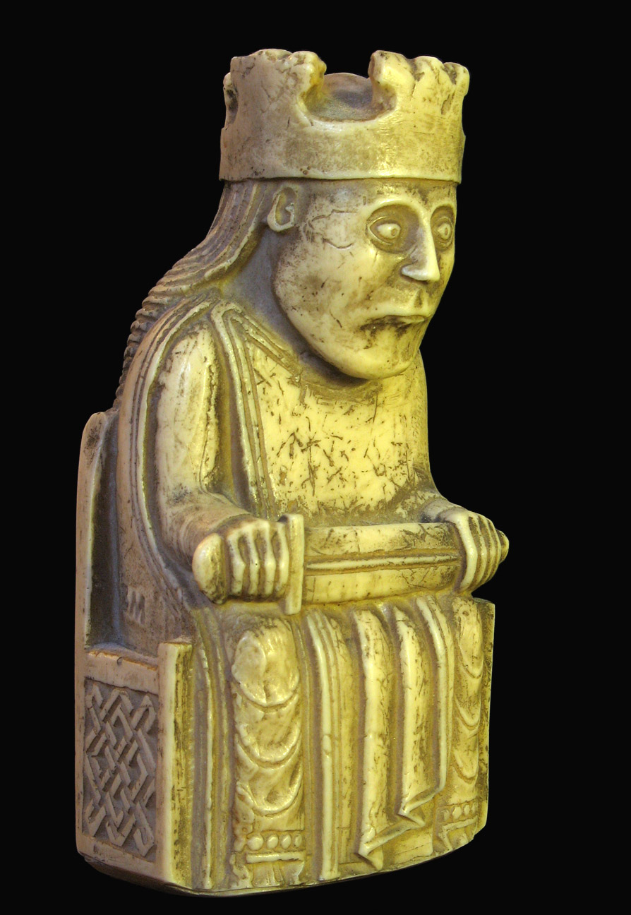 Replica of one of the 12th Century Lewis Chessmen - Andrew Dunn. CC-by-SA