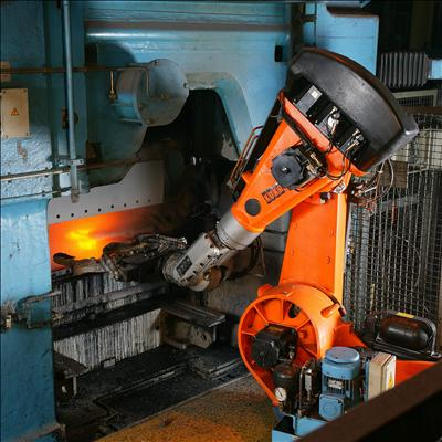Automation of foundry with robot