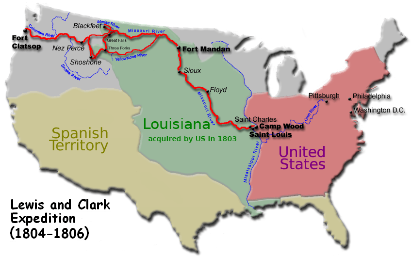 Image result for Lewis and Clark expedition map