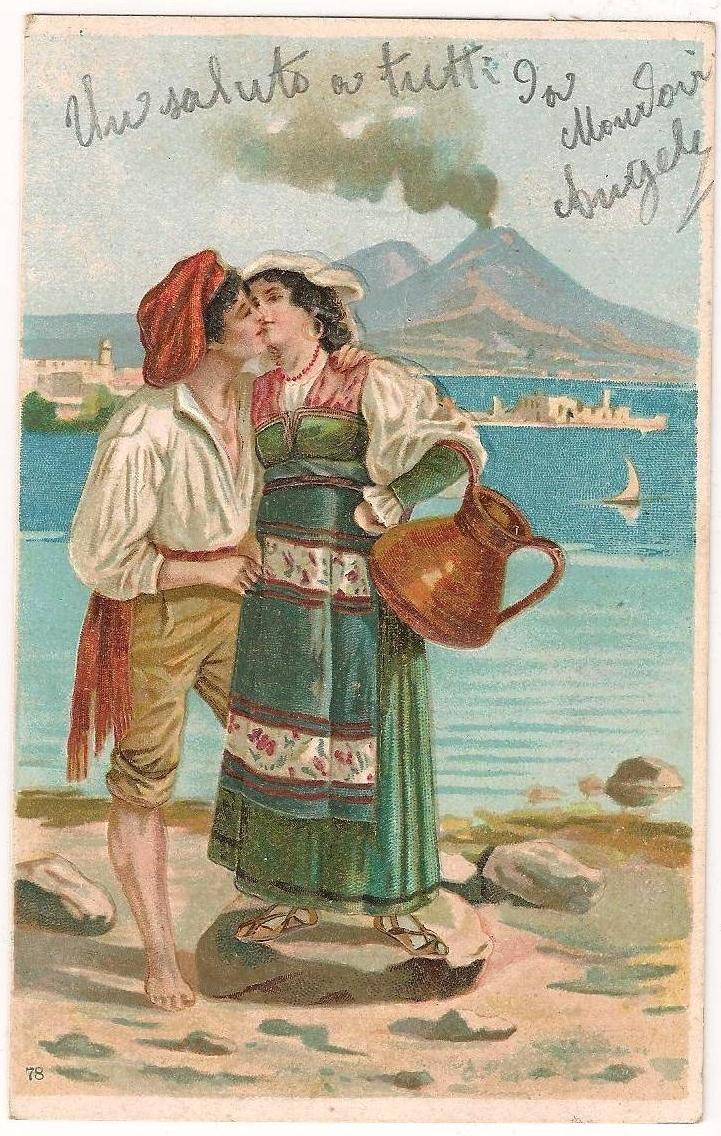 FileOld Italian Postcard Un Saluto Da Napoli 1904jpg