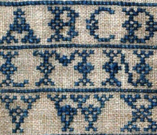 Detail of Image:Sampler by Elizabeth Laidman, ...