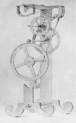 Pendulum clock conceived by Galileo Galilei ar...
