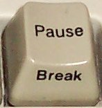 Break/Pause key on PC keyboard