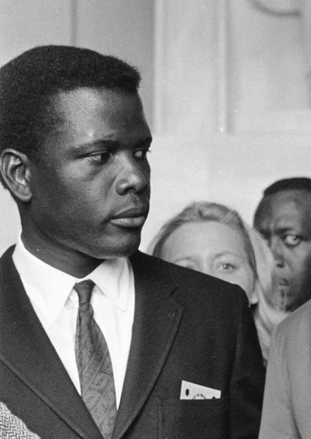 Sidney Poitier's image, cropped from Civil Rig...