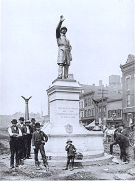 Police memorial in Haymarket Square