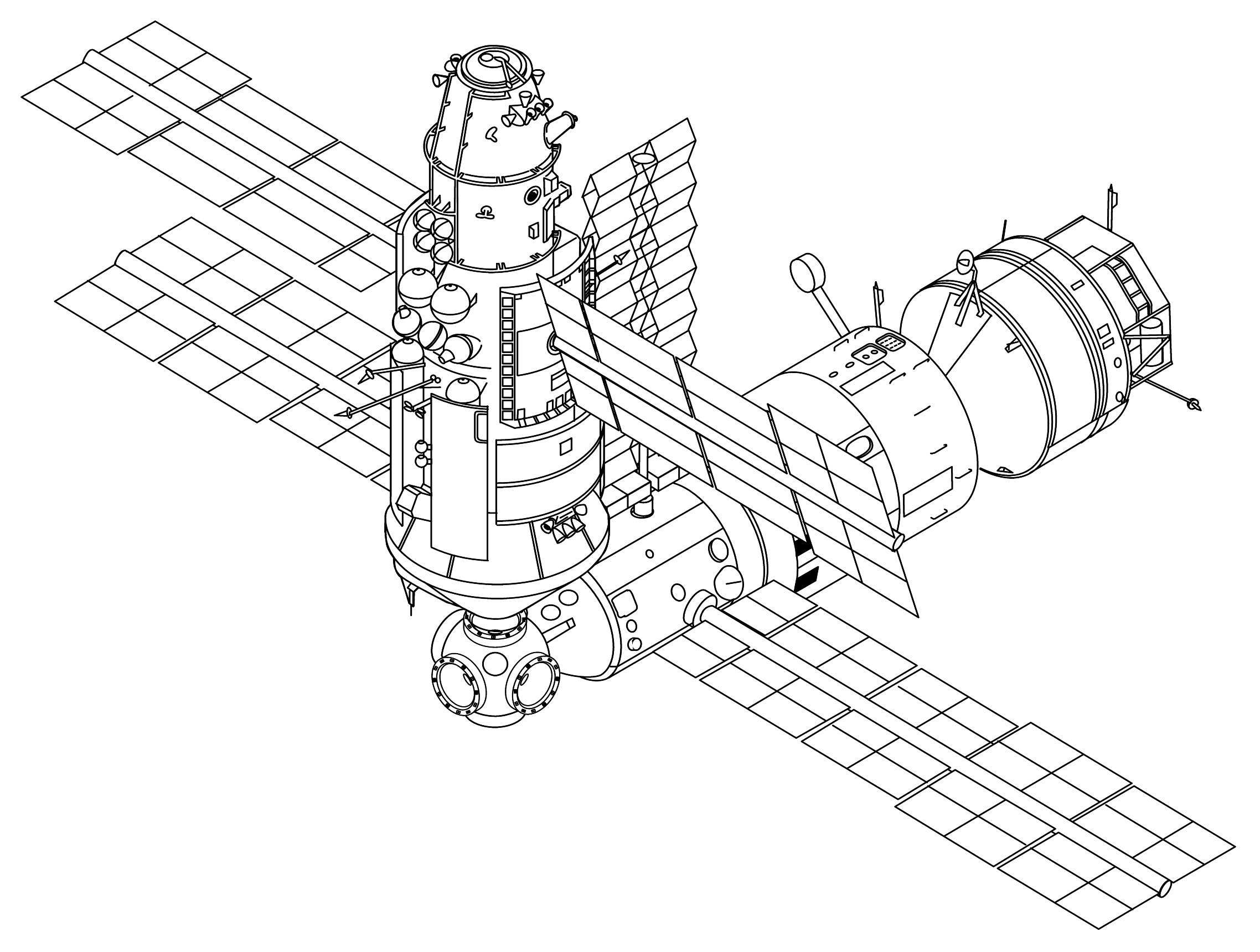Space Station Dimension Drawing