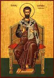 Ícone de São Barnabé.
