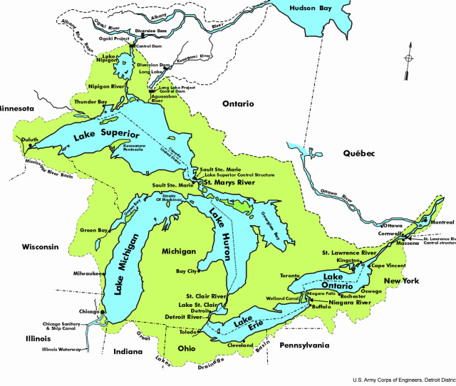 Various National State Provincial And Municipal Jurisdictions Govern The Great Lakes