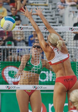 English: Finland top-beachvolleyball player Ri...