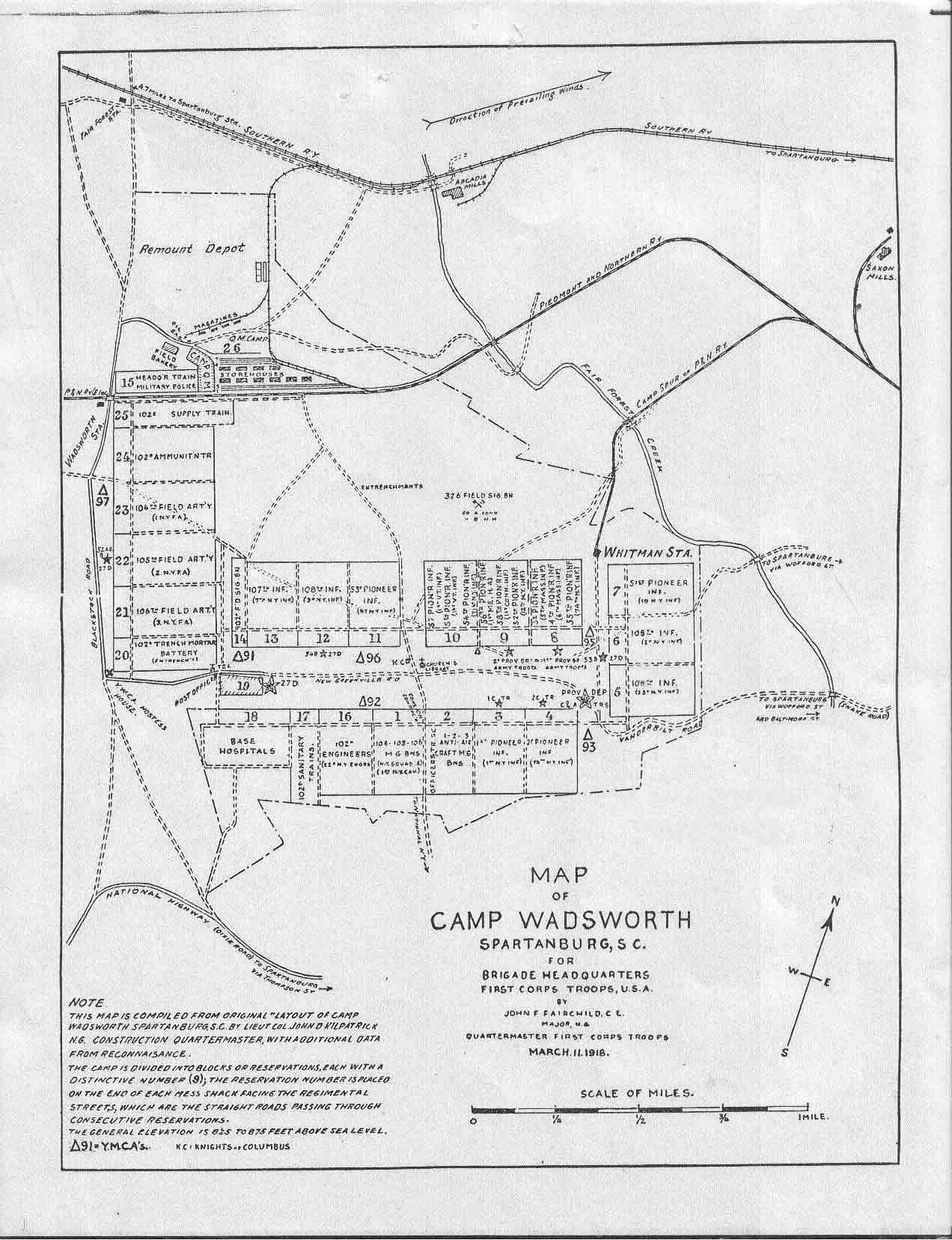 File Camp Wadsworth South Carolina Map