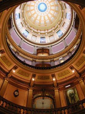 """""""Michigan State Capitol dome interior, La..."""