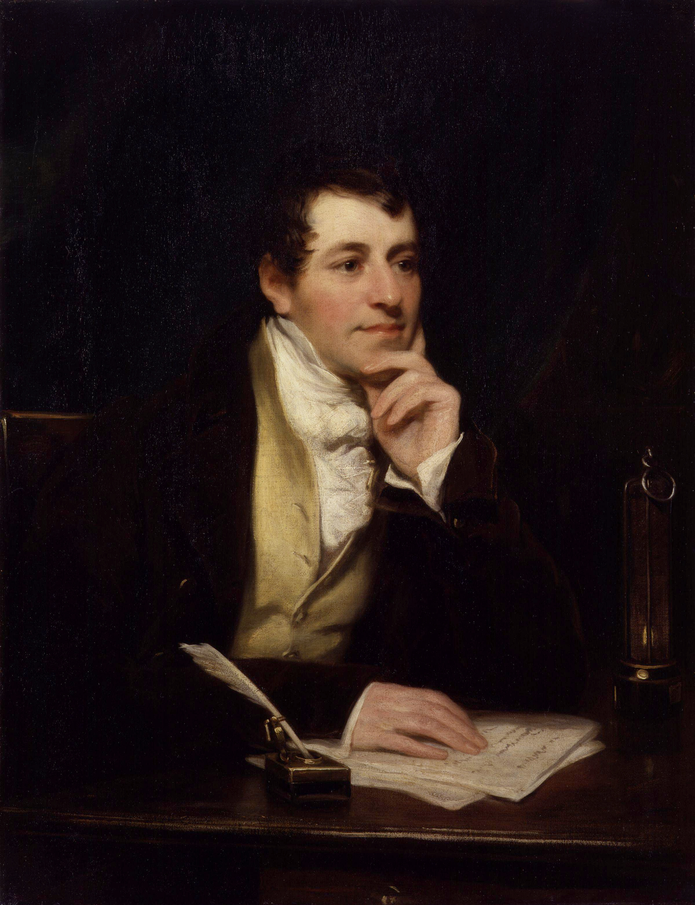 Sir Humphry Davy considers his next experiment
