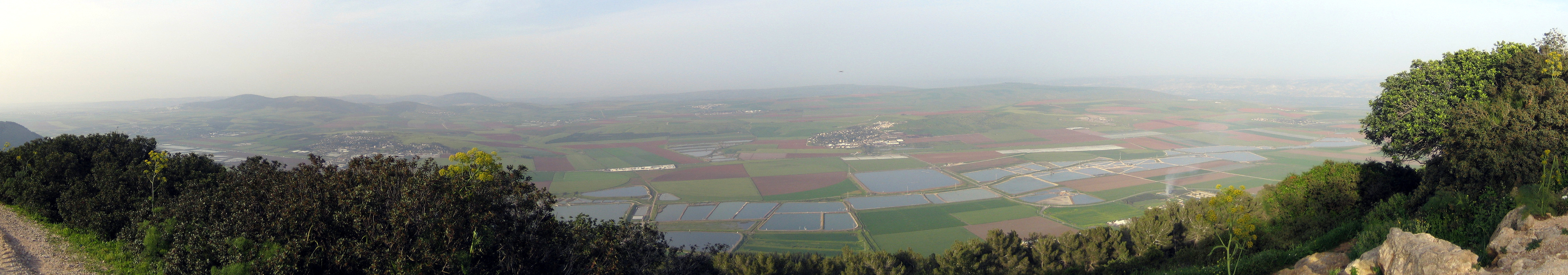 http://commons.wikimedia.org/wiki/File:Jezreel_Valley_panorama.jpg
