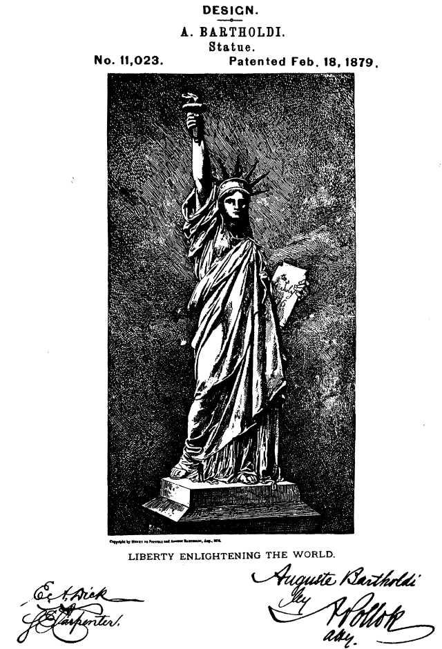 Frédéric Auguste Bartholdi's Design Patent