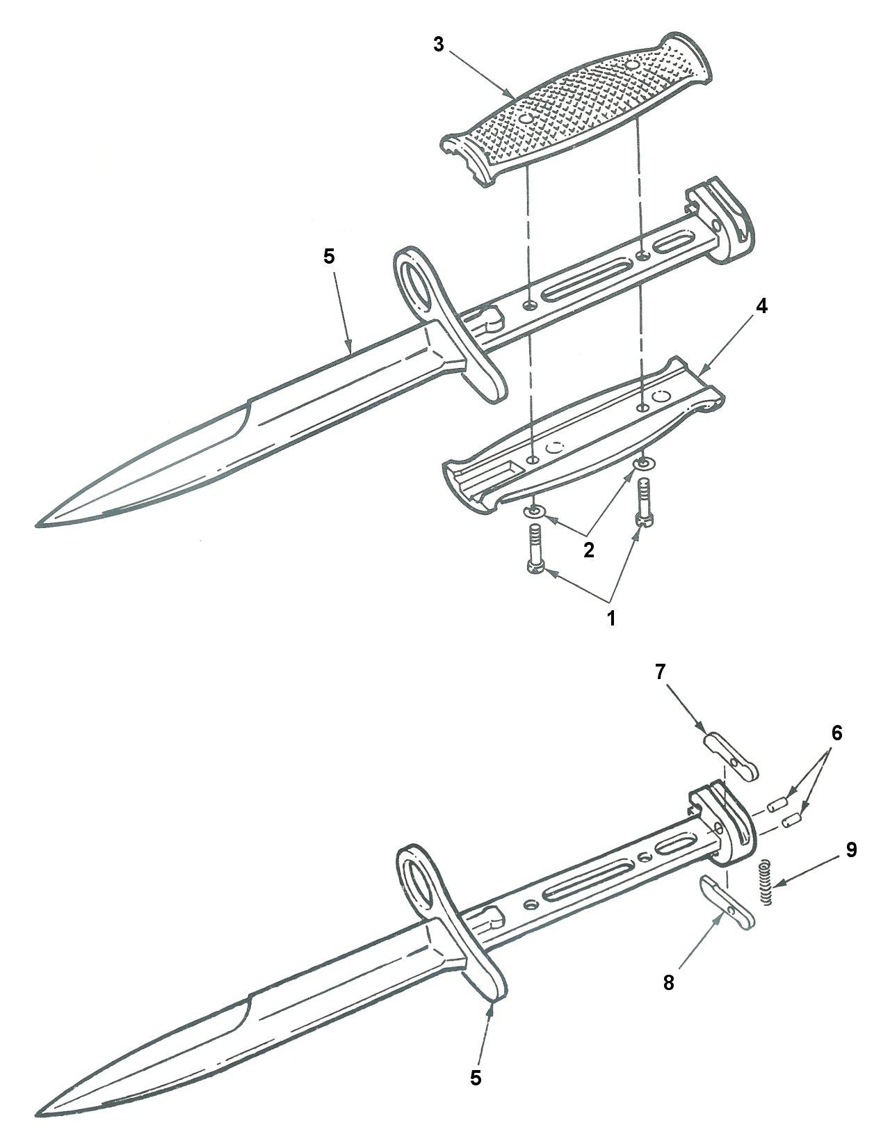File Bayonet Knife M7 Expl