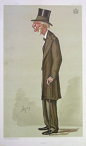 Caricature of George Frederick Upton, 3rd Visc...