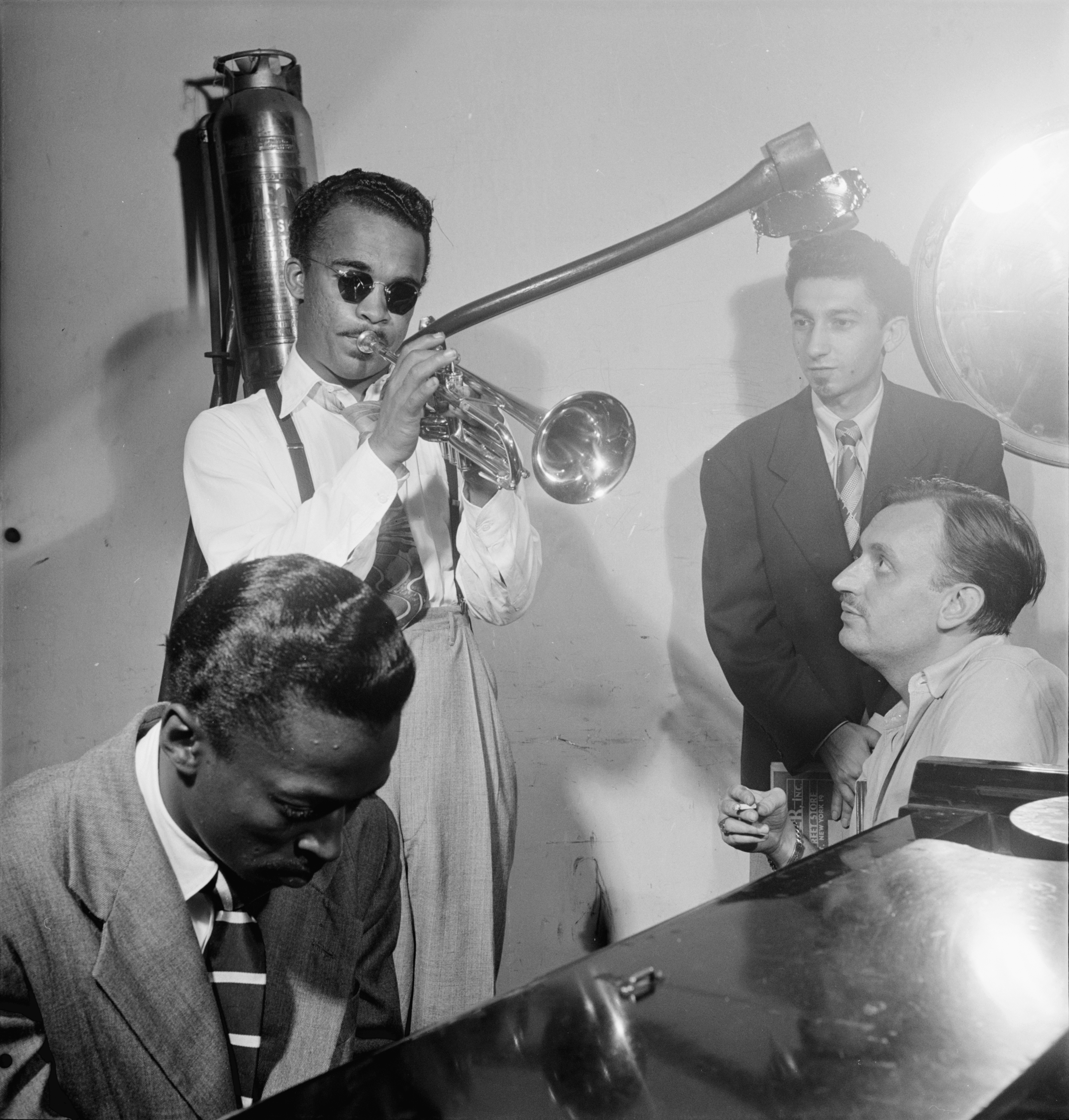 English: Howard McGhee, Brick Fleagle and Mile...