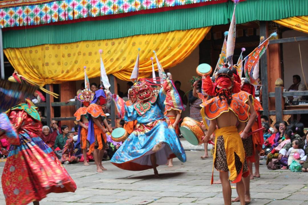 Hình ảnh lễ Jakar Tshechu tại dzong Jakar, huyện Bumthang, Bhutan.