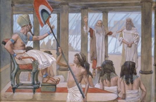 Tissot Moses Speaks to Pharaoh