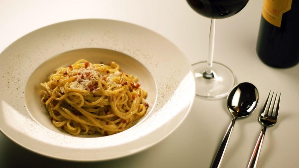Harmonização: Spaghetti alla Carbonara