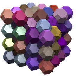 Polyhedral 'foam' by truncated octahedra