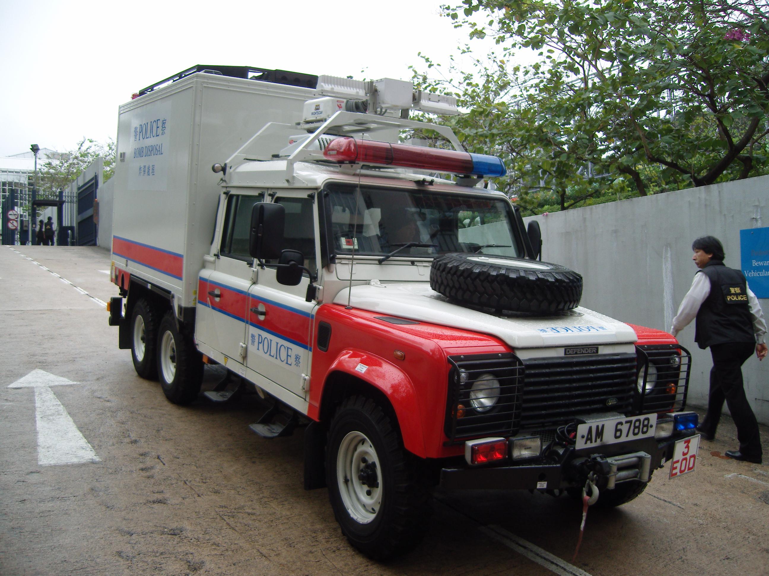 6 wheel Land Rover Defender Hong Kong Police Bomb Disposal