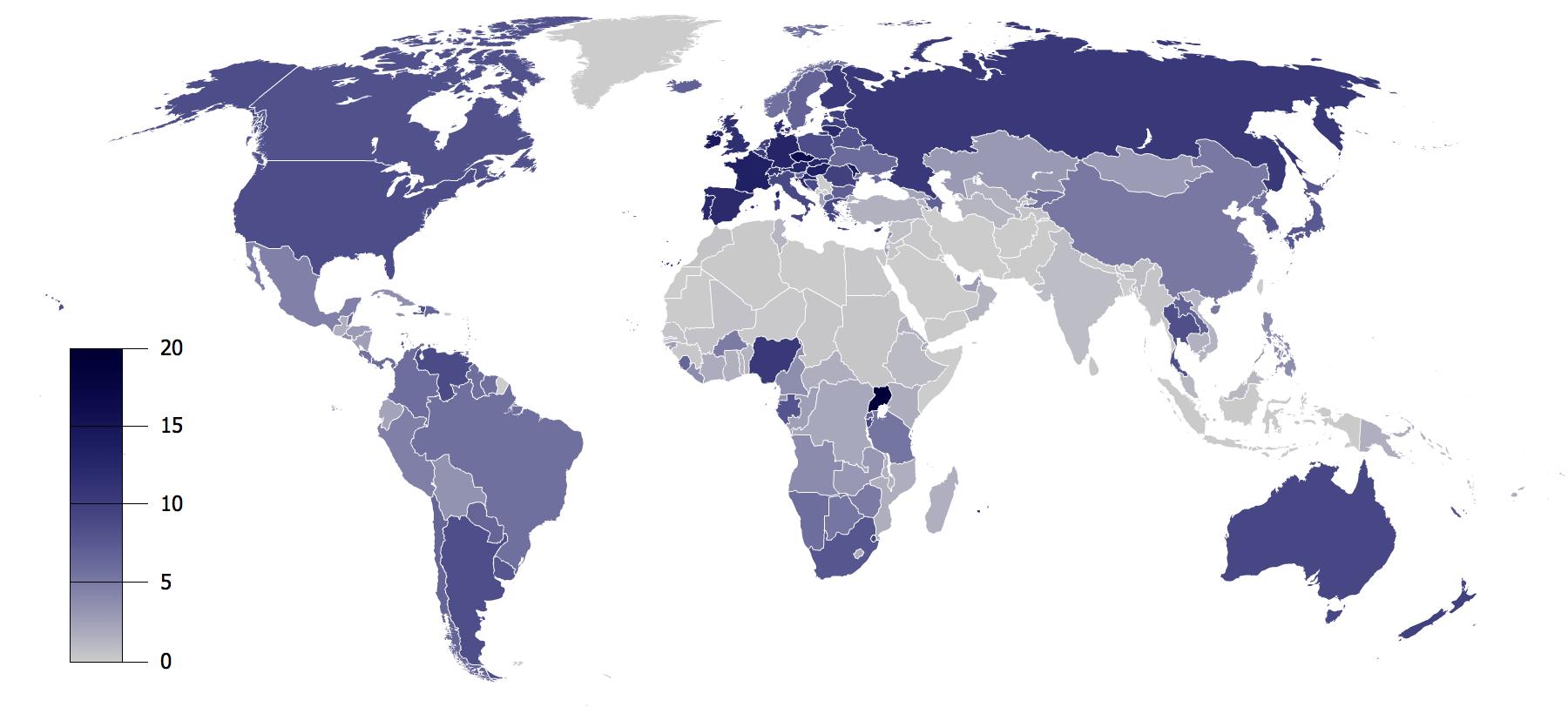 Consumo de alcohol por países